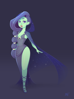 Nyx, Goddess of the Night by renei