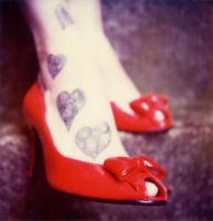 Red shoes and tatoos by robbie-munn