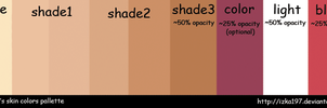 Skin Colors Palette by izka197