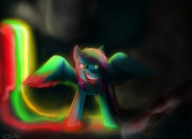 Winged Angel and the Rainbow Factory by swiftwingOC95