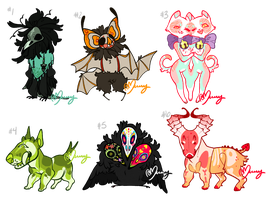 Halloweenie Adopts by Moriartea-time