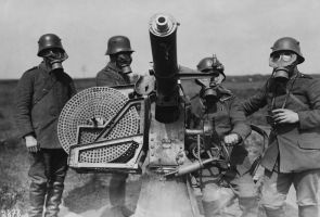 WW1 German Soldiers with AA gun by ShitAllOverHumanity