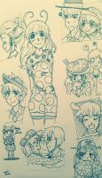 Backyardigans Tiny Sketch Dump by Nika-Tachikawa