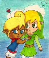 Tetra loves her Link :B by Jrynkows