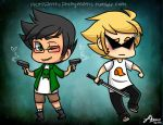 HS: Mini Dirk and Jake by CluelessCaptain