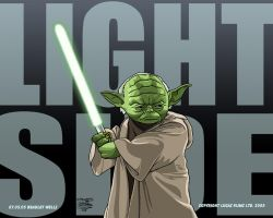 Yoda Light Side by Bradwells