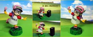 Arale papercraft (size comparizon) by BRSpidey