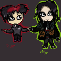 Commision- Chibi Mike and Pete by Pokechan13
