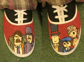 Professor Layton Shoes by spyder-of-death