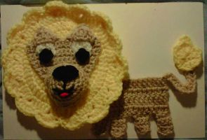 Lion Applique by crochetamommy