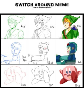 Switch Around Meme with Brothers by CitrusPencil