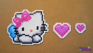 Hello Kitty Hearts Bead Sprite by SerenaAzureth