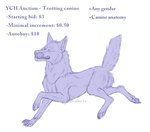[Closed] Ych Auction - Trotting canine [Pts/PP] by Rivaillei