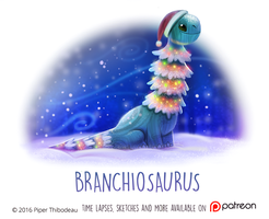 Daily Paint 1474. Branchiosaurus by Cryptid-Creations
