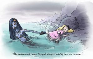 mermaids are really mean by DianeAarts