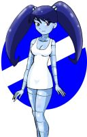 Jenny XJ9 in White Dress by Koku-chan