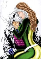 Gambit and rogue by Mamecucu