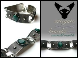 Bracelet with Emerald Marble by Artegato