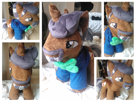 De Lancie Plushie with suit! by Jillah92