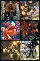 VS. cards for Marvel and DC by diablo2003