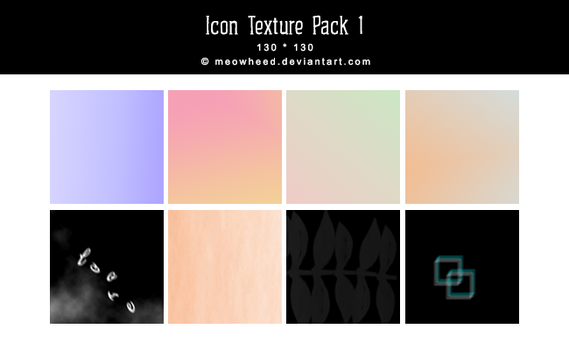 [ texture ] 130*130 icon texture pack I by meowheed