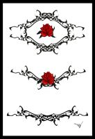 Gothic Lace Splash 003 Red by Quicksilverfury