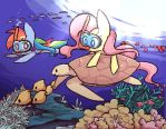 scuba diving by joycall3