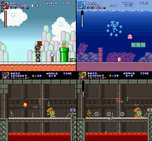 Bass/Forte in Super Mario Bros Crossover 2.0 by Forteman19