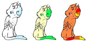 Elemental Kitty adopts by dark-side-of