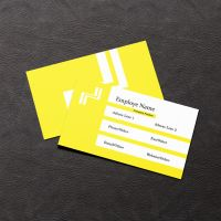 Yellow Business Card by SobohRami