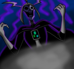 Skeleton Emperor's laugh *done* by The-Angel-D