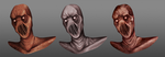 Monster Face Concepts by Leongeds