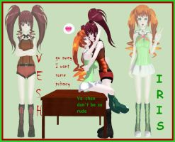Newcomer: Vesh and Iris by paramore992