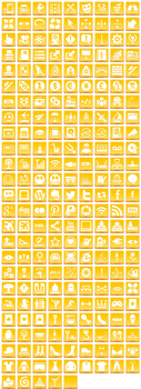 Free Yellow Button Icons by aha-soft-icons