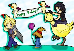 FF7-happy b-day by Nahumania