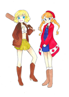 Nyotalia~America and Canada by dream-thunder