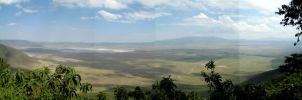 Ngorongoro panorama by Majnouna
