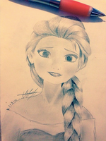 Queen Elsa by hearmerawr0119