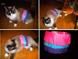 Duct Tape Cat Skirt by SharpieObsessed
