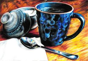 Mom's Coffee by Prismacolorists