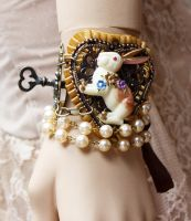 Down the Rabbit Hole bracelet II by Pinkabsinthe