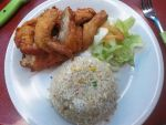 Fried Chicken with Rice by nosugarjustanger