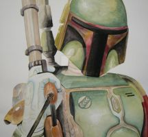 Boba Fet Watercolor by Wisteriah