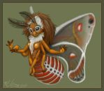 Cecropia moth girl by Blattaphile