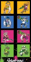 Splatoon Inkling acrylic charms by SoloAzume
