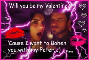 I Want To Bohen You With My Peter V-day Card by LightninBluEyes