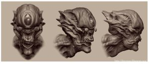 The Watcher_Head study sheet by firecrow78
