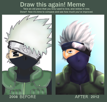 Draw this again! Meme: Kakashi by CocoMidori