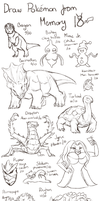 Draw Pokemon from Memory 18 by ShadeofShinon