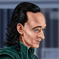 Tom Hiddleston as Loki by adavis57